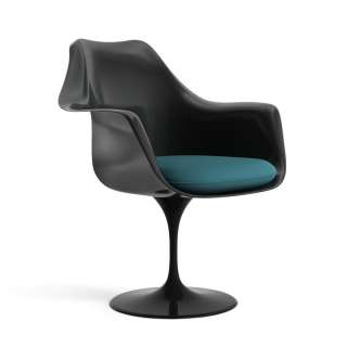 Knoll International - Saarinen Tulip Armlehnstuhl - Ultrasuede Alpine -  - Sitzkissen - indoor