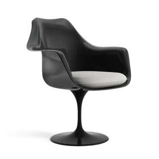 Knoll International - Saarinen Tulip Armlehnstuhl - Ultrasuede Silver -  - Sitzkissen - indoor