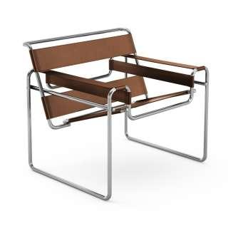 Knoll International - Breuer Original Wassily Loungesessel - Spinneybeck Kernleder warmbeige - indoor