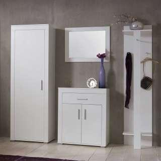 Garderobenset in Weiß komplett (4-teilig)