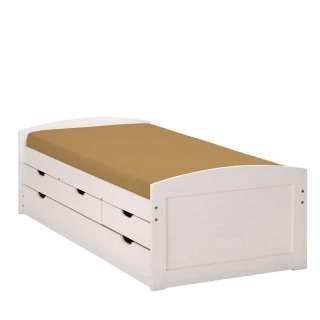 Komfortbett aus Kiefer Massivholz Kiefer Weiß