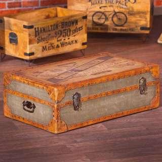 Vintage Koffer in Braun Beige Antik Optik