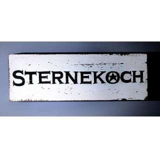 Holzschild mit Aufschrift Schwarz Weiß