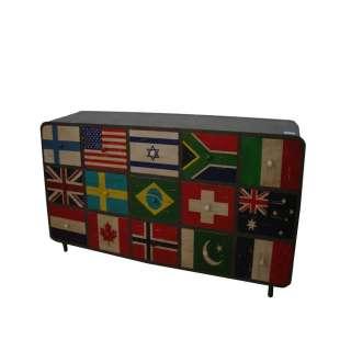 Schubladen Sideboard im Flaggen Style Shabby Chic