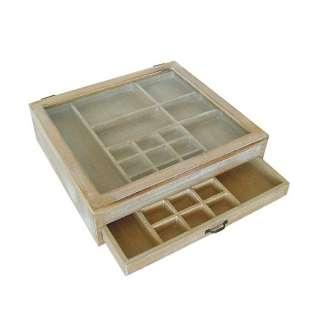 Setzkasten aus Holz Glasscheibe