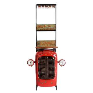 Design Barschrank im Loft Style Rot