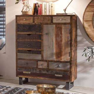 Brotschrank in Braun Mangobaum Recyclingholz