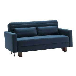 Bettcouch in Blau Webstoff