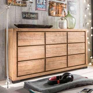 Sideboard aus Teak Recyclingholz Schubladen