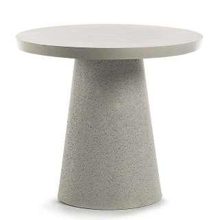 Runder Tisch aus Leichtbeton Grau