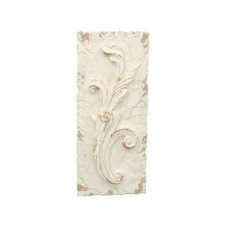 Deko Wandbild in Creme Weiß und Goldfarben Motiv