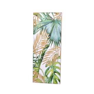 Design Wandbild im Blätter Design Tanne Massivholz