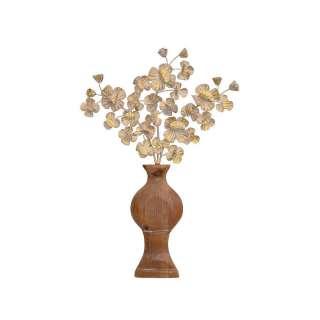 Deko Wandbild mit Vasen Motiv Metall und Massivholz