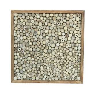Teakholz Wanddeko 70 cm breit Recyclingholz