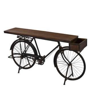 Design Konsolentisch im Fahrrad Design Braun und Schwarz