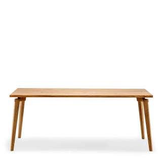 Holztisch aus Eiche Massivholz 90 cm tief