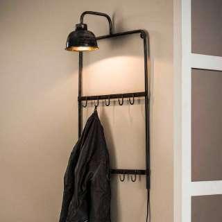 Design Hängegarderobe im Industry Look Lampe