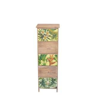Holzkommode mit fünf Schubladen im