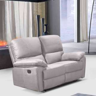 Zweisitzer Sofa in Beige Relaxfunktion