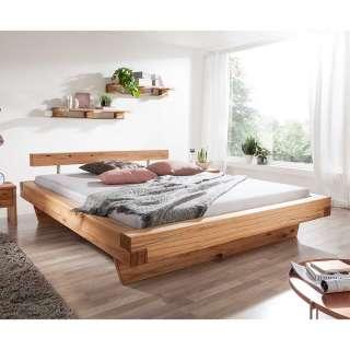 Holzbalken Bett aus Wildbuche Massivholz 40 cm Fußteil