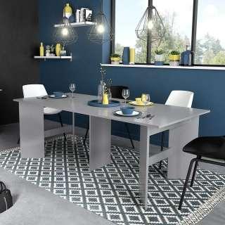Esszimmer Tisch in Grau Hochglanz ausziehbar