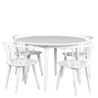 Sitzgarnitur in Weiß Skandi Design (5-teilig)