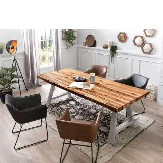 Esszimmer Tischgruppe mit Armlehnenstühlen modern (5-teilig)