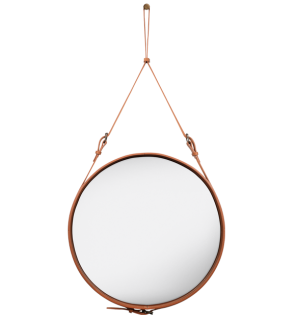 Gubi - Adnet Spiegel - Ø 58 cm - braun - indoor