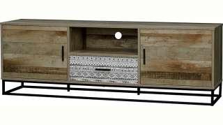 Sideboard Wildeiche 90x40x95 natur geölt BEN #22
